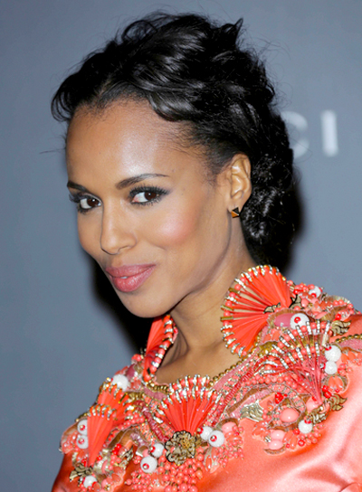 Kerry Washington's Sophisticated, Romantic, Wavy, Black Hairstyle