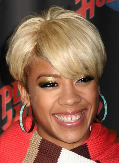 Keyshia Cole Funky, Blonde, Short Hairstyle