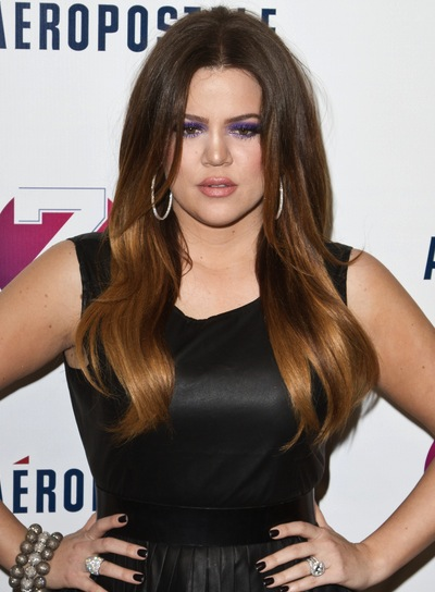 Khloe Kardashian Chic, Sophisticated, Layered, Brunette Hairstyle
