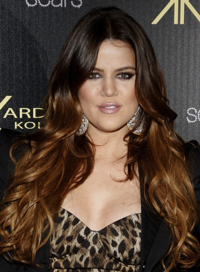 Khloe Kardashian Long, Wavy, Sexy, Brunette Hairstyle