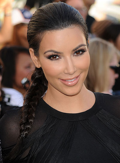 Kim Kardashian Black Hairstyle with Braids and Twists