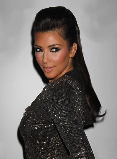 Kim Kardashian Half Updo for Prom