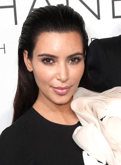 Kim Kardashian's Long, Chic, Black, Sophisticated Hairstyle