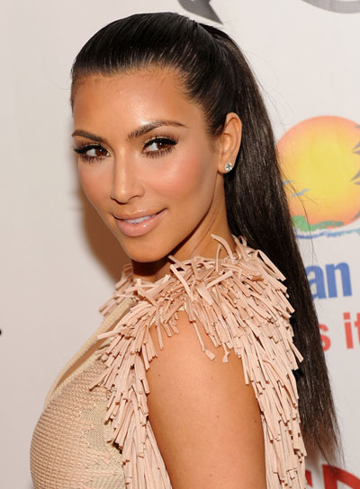 Kim Kardashian Long, Straight, Sophisticated Ponytail