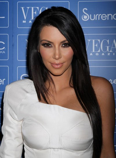 Kim Kardashian Long, Straight, Sophisticated Hairstyle