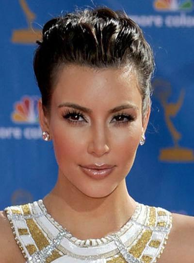 Kim Kardashian Romantic, Black Updo