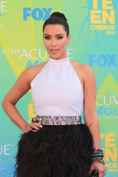 Kim Kardashian Straight, Black Updo