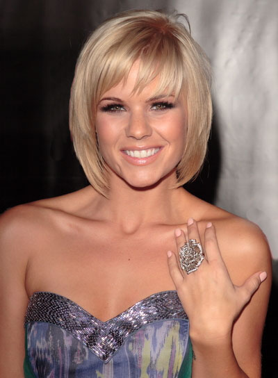 Kimberly Caldwell Short, Blonde Hairstyle With Bangs