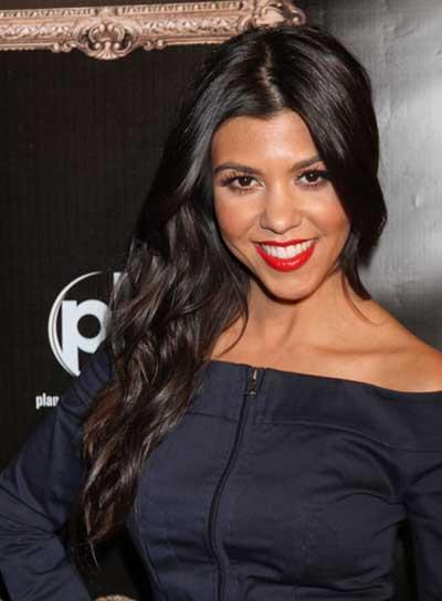 Kourtney Kardashian Wavy, Chic, Black Hairstyle