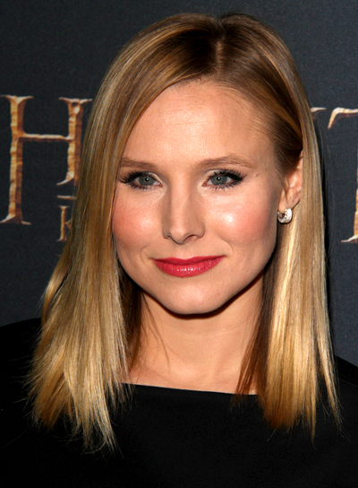 Kristen Bell with a Chic, Long, Blonde, Straight Hairstyle