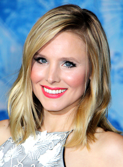 Kristen Bell Long, Blonde, Wavy Hairstyle with Highlights