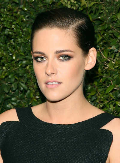 Kristen Stewart Short, Straight, Brunette, Edgy Hairstyle