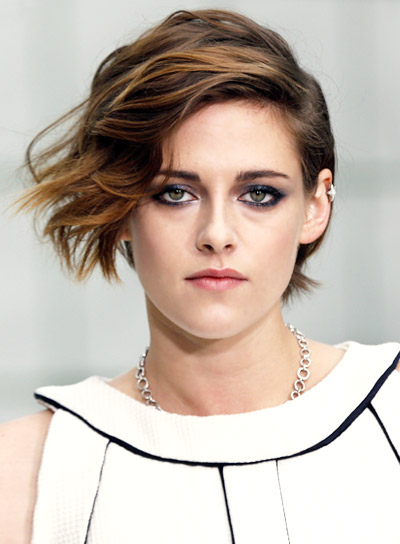 Kristen Stewart with a Short, Edgy, Tousled, Brown Hairstyle Pictures