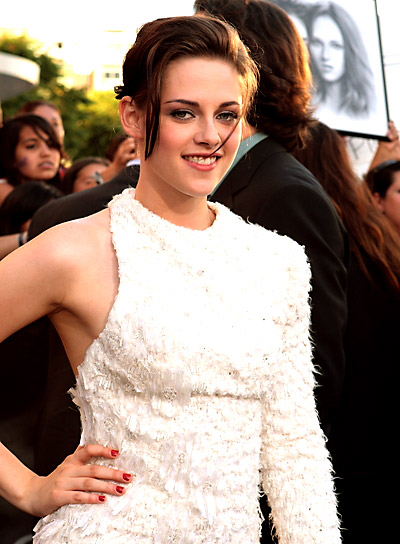 Kristen Stewart Romantic, Brunette Updo