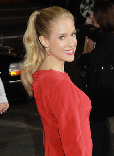 Kristin Cavallari Long, Chic, Wavy, Blonde Ponytail