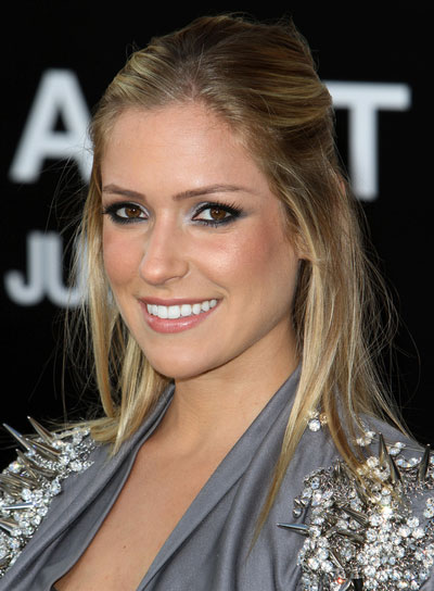 Kristin Cavallari Straight, Blonde Half Updo