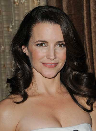 Kristin Davis Long, Curly, Sophisticated, Brunette Hairstyle