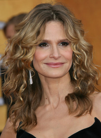 Kyra Sedgwick Long, Curly, Blonde Hairstyle
