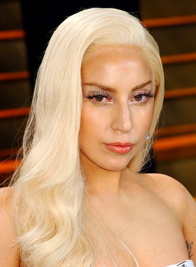 Lady Gaga Long, Blonde, Wavy, Sophisticated Hairstyle