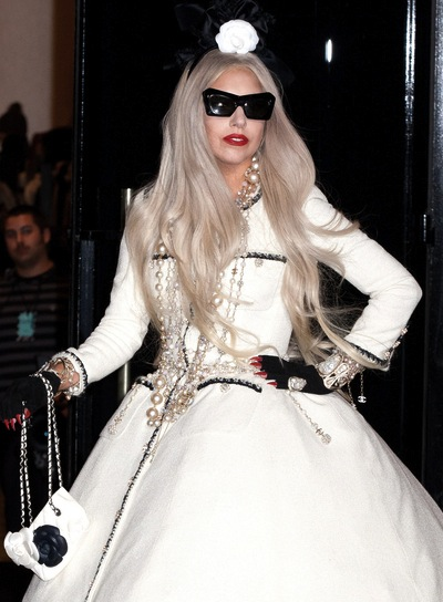 Lady Gaga Long, Layered, Edgy Hairstyle