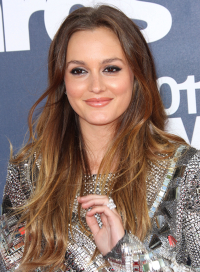 Leighton Meester Long, Tousled Hairstyle with Highlights