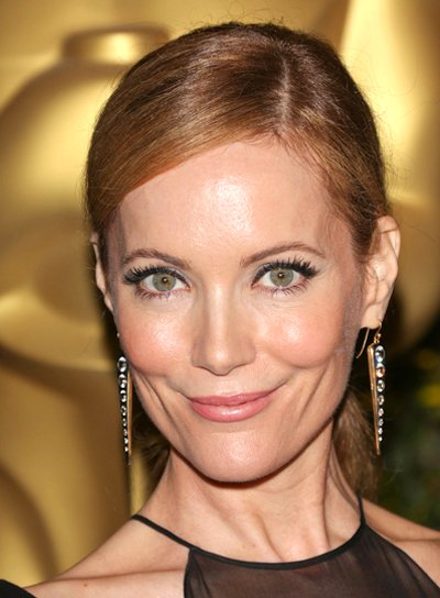 Leslie Mann's Long, Red, Party, Ponytail Hairstyle