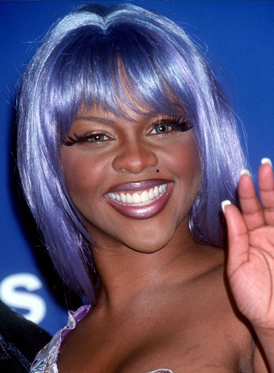 Lil' Kim Straight, Funky Hairstyle with Bangs