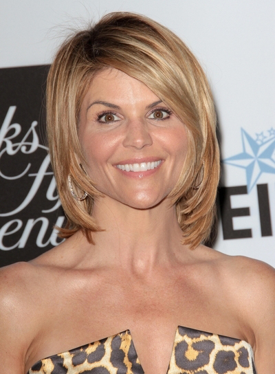 Lori Loughlin's Medium, Formal, Sophisticated, Short, Bob Hairstyle