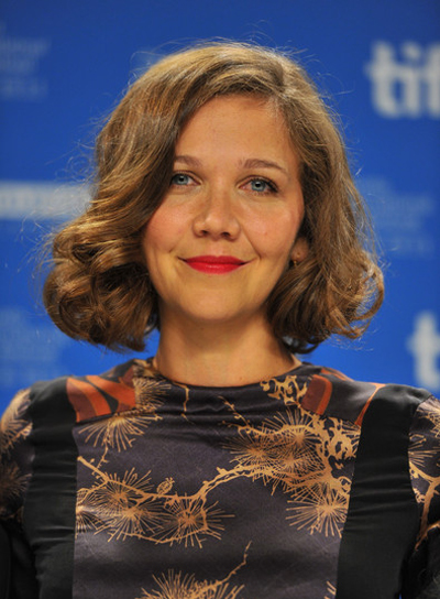 Maggie Gyllenhaal Short, Curly, Formal, Brunette Bob