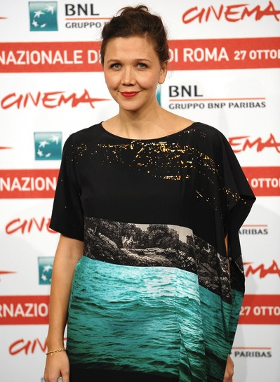 Maggie Gyllenhaal Tousled, Sexy, Brunette Updo