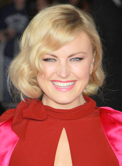 Malin Akerman Short, Chic, Sophisticated, Wavy, Blonde Hairstyle with Bangs