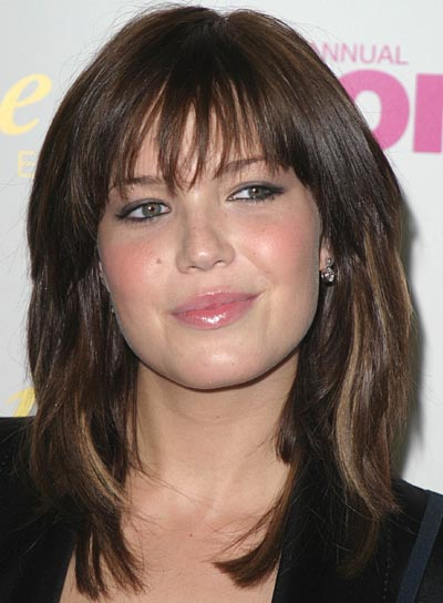 Mandy Moore Long, Straight Hairstyle with Bangs