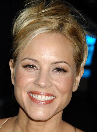 Maria Bello Tousled, Blonde Updo