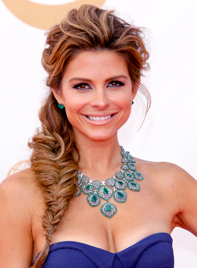 Maria Menounos' Chic, Romantic, Brunette Hairstyle with Braids and Twists