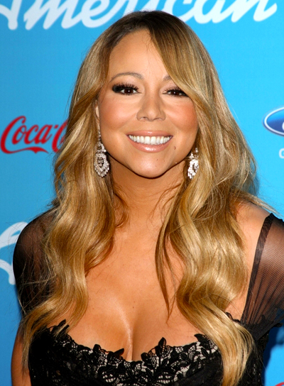 Mariah Carey's Long, Blonde, Chic, Wavy Hairstyle