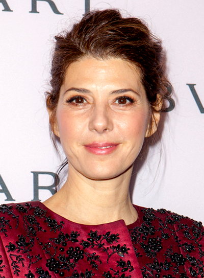 Marisa Tomei's Brunette, Wavy, Updo, Party Hairstyle
