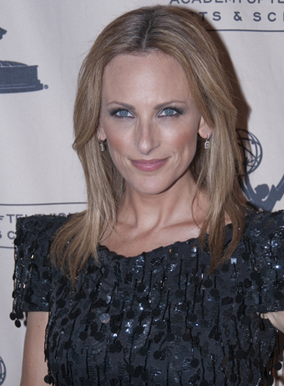 Marlee Matlin Medium, Straight, Sexy, Blonde Hairstyle with Highlights