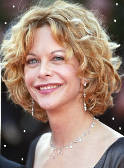 Meg Ryan Romantic, Curly Hairstyle