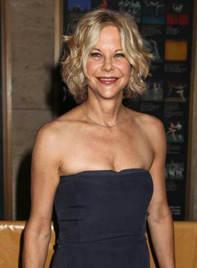 Meg Ryan Short, Tousled, Blonde Bob