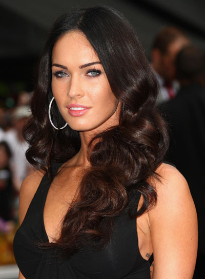 Megan Fox Long, Sexy, Curly Hairstyle