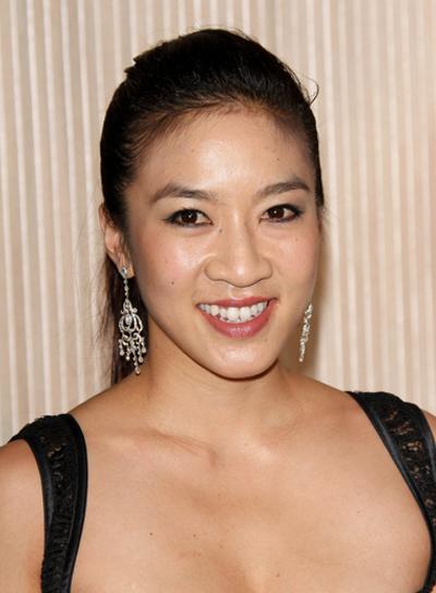 Michelle Kwan Straight, Chic, Black Ponytail