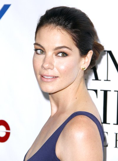 Michelle Monaghan's Brunette, Sophisticated, Updo Hairstyle