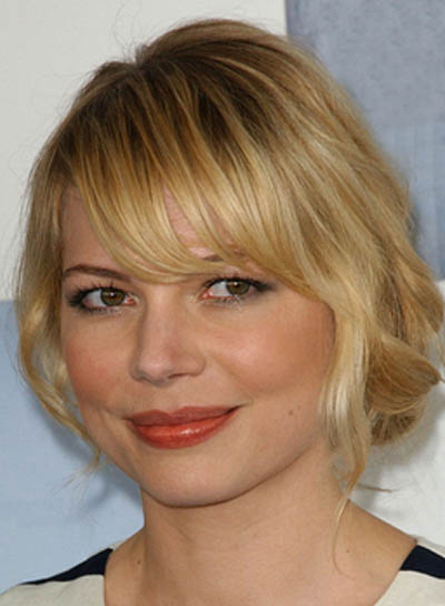Michelle Williams Blonde Updo