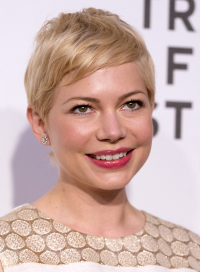 Michelle Williams' Short, Sophisticated, Chic, Blonde Hairstyle