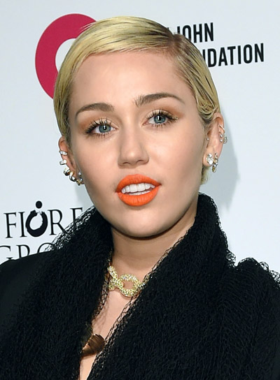 Miley Cyrus Short, Straight, Blonde, Pixie Hairstyle