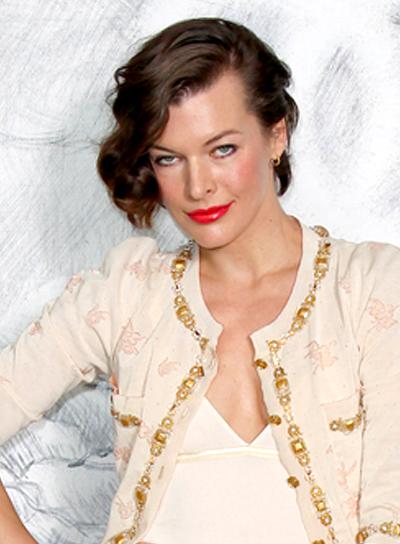Milla Jovovich's Short, Funky, Wavy, Brunette Hairstyle