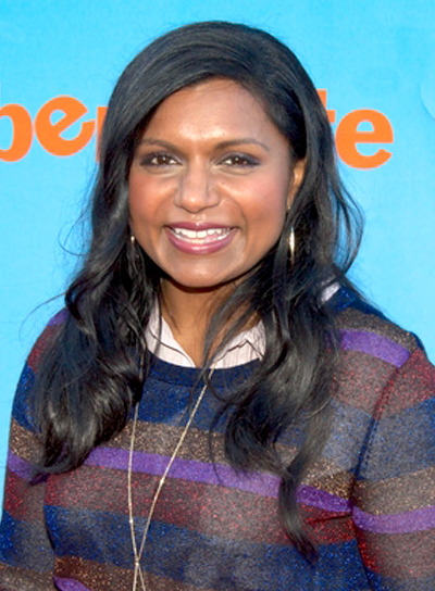 Mindy Kaling's Long, Black, Wavy, Romantic, Hairstyle