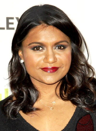 Mindy Kaling's Medium, Brunette, Chic, Wavy Hairstyle