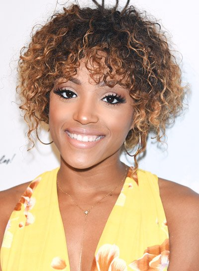 Missy Lynn's Short, Curly, Brunette, Funky Hairstyle