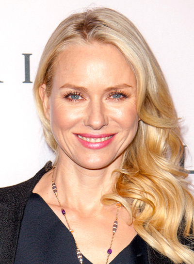 Naomi Watts' Blonde, Wavy, Romantic, Tousled Hairstyle